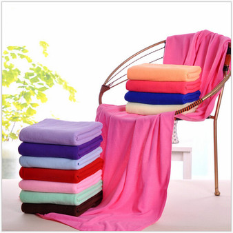 QueenLine  140x70cm / 55''x27'' Supersoft Microfiber Beach Towel Microfibre Bath Towel Sports Towel Gym Fast Drying Cloth Extra Large