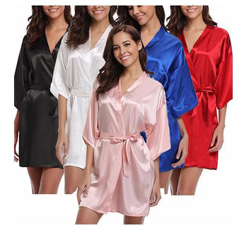 QueenLine  4XL.Women's Satin Wedding Kimono Bride Robe.Sleepwear Bridesmaid Robes Pajamas Bathrobe Nightgown Spa Bridal Robes Dressing Gown