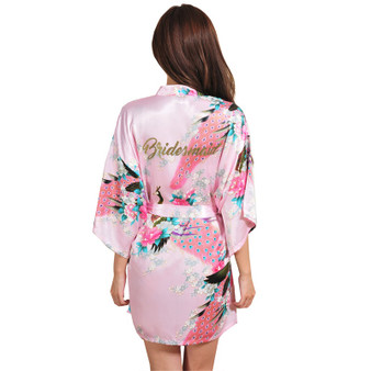 QueenLine  Bridesmaid robes Sleepwear Robe Wedding Bride Bridesmaid Robes Pyjama Robe Female nightwear Bathrobe Nightdress Nightgown