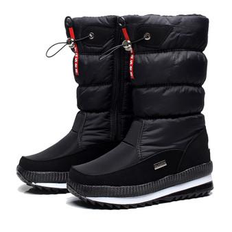 QueenLine  Women snow boots platform winter boots thick plush waterproof non-slip boots fashion women winter shoes warm fur botas mujer