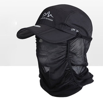 QueenLine  Quick-drying 1pc Outdoor Sports Hiking Visor Hat UV Protection Face Neck Cover Fishing Sun Protect Cap Outdoor Protective Hat