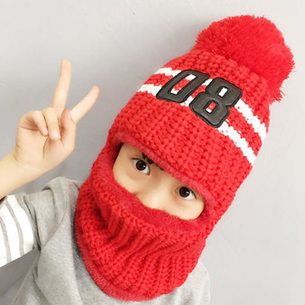 QueenLine  Hot Sale Fashion Full Face Cover Thick Autumn Winter Children Cotton Hat Windproof Anti-cold Ear Protection Warm Fashion Cap