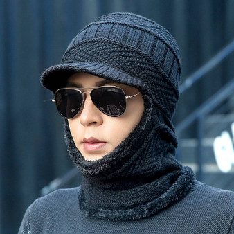 QueenLine new winter fashion wool hat warm knit hat outdoor men and women cold protection cap