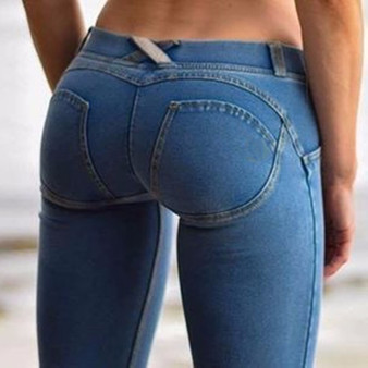 QueenLine  Sexy Women Casual Jeans Skinny Lift Butt Leggings Bodycon Low Waist Denim Pants Push Up Hip Pencil Lift Jeans Women High Street