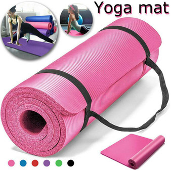 QueenLine Yoga Mat Exercise Pad Thick Non-slip Folding Gym Fitness Mat Pilates Supplies Non-skid Floor Play Mat