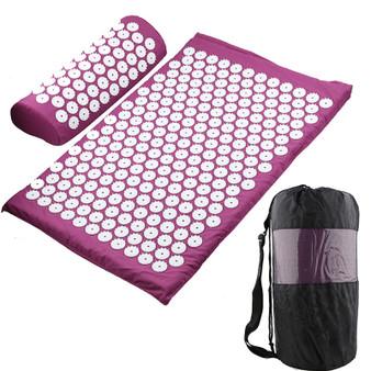 QueenLine  Massager Cushion Massage Yoga Mat Acupressure Relieve Stress Back Body Pain Spike Mat Acupuncture Massage Yoga Mat