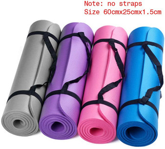 QueenLine Yoga Mat Small 15 Mm Thick And Durable Anti-Skid Sports Fitness Anti-Skid Mat To Lose Weight Gym Sport Yoga Pillow Dropshipping