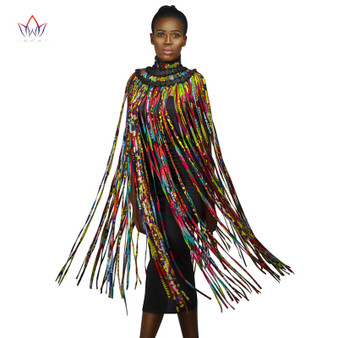 QueenLine 2020 African Beads Handmade Jewelry Skirt African Ankara Necklaces Jewelry Conversion Piece Rope Necklace Shawl Tribal SP017