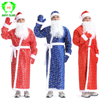 QueenLine Adult Christmas Costumes Women Santa Claus Costume Men Christmas Cosplay Costume for New Year Festival Girls Party Costume Suits