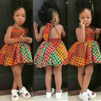 QueenLine Summer Dress Kids Girls African Dashiki 3d Digital Print Suspenders Princess Dress Dress For Girls Vestidos De Verano 2020 @45