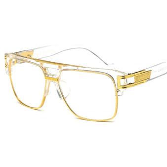 QueenLine Classic Luxury Men Sunglasses Glamour Fashion Brand Sun Glasses For Women Mirrored Retro Vintage Square Designer Shades
