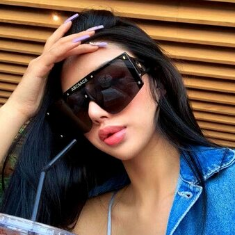 QueenLine 2020 New Luxury One Piece Punk Sunglasses Women Vintage Pilot Sun Glasses Men Sunglass Oculos Feminino Gafas Lentes De Sol UV400