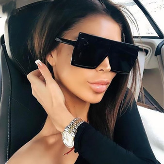 QueenLine KeiKeSweet Oversized Fashion Shades Sunglasses Women Vintage Square Big Frame Party Rays UV400 Sun Glasses Driving Eyewear