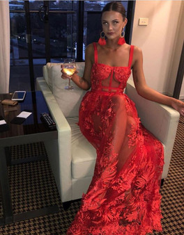 QueenLine 4 Color Strap Summer Newlife Maxi Long Dress Celebrity Sexy Women Bandage Dress Evening Party Dress