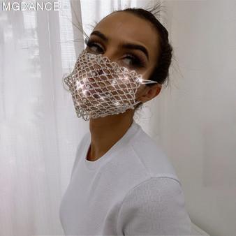 QueenLine Elegant Diamond Rhinestone Mask Sexy Hallowmas Venetian Bauta Full Face Masks Party Dance Mask Masquerade Cosplay Decor