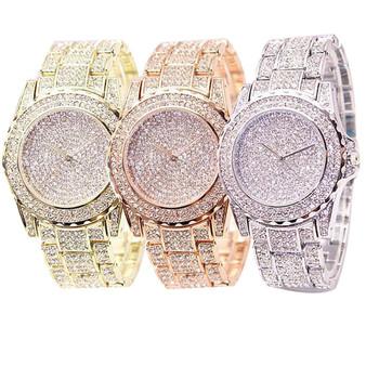 QueenLine Fashion Watch Women Luxury  Round Quartz Watch Wrist Watches for Women Shiny Gold Sliver Watches  Wrist Watch For Ladies Gift