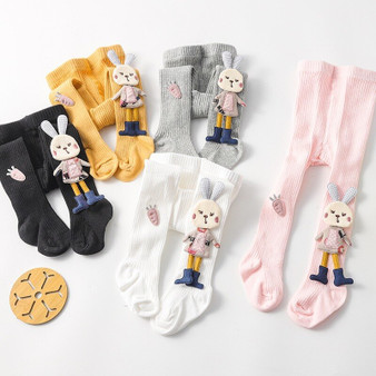 QueenLine Baby Girl Tights Cartoon Stockings 3D Rabbit Cute Girls Pantyhose Cotton Autumn Winter Trousers Knitted Socks Pants 0-4 Years