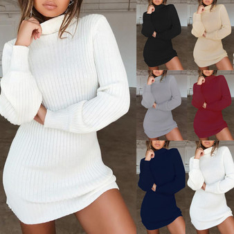 QueenLine Fashion Women winter autumn Casual stripe Jumper Turtleneck Sweaters Dress pullover new Sexy winter clothes ladies sweaters