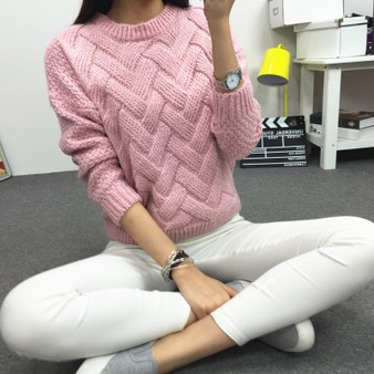 QueenLine New Casual Sweater Women 2019 O-neck Solid Color Autumn And Spring Thick Pullover Loose Winter Clothes Women Vestidos MMY76059