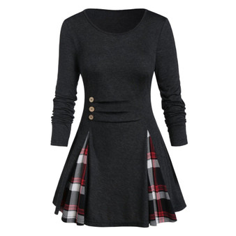 QueenLine Winter Party Dress Women Elegant Plaid Long Sleeve Dresses Woman Party Night Autumn Dress Women Vintage Ladies Casual Dresses