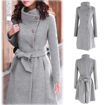 QueenLine Plus Size Winter Coat Women Solid Long Coat Long Sleeve Outwear Casual Autumn Winter Elegant Overcoat 2020 Manteau Femme