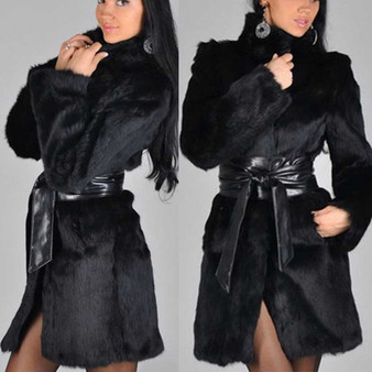 QueenLine Oversized Winter Women Outerwear Long Coat Womens Plus Size Ladies Fur Coats And Jackets Women Chaquetas Mujer 2019 Manteau