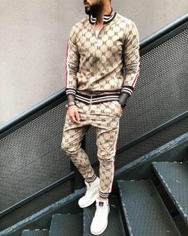 QueenLine 2021 Jogger Streetwear Casual Men's Clothing Men's Suit Fall Fashion Sportswear Men's Fitness Sports Shirt Jacket+Trousers M-3XL