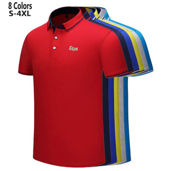 QueenLine S-4XL New Design 2021 Summer Mens Short Sleeve Polos Shirts Embroidery Logo Casual Cotton Polos Homme Male Clothes Lapel Tops