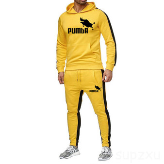 QueenLine New 2020 men's Brand Tracksuit men thermal Sweatshirts Men Sportswear Sets Pumba hoodie+Pants Sporting Suit Male chandal hombre