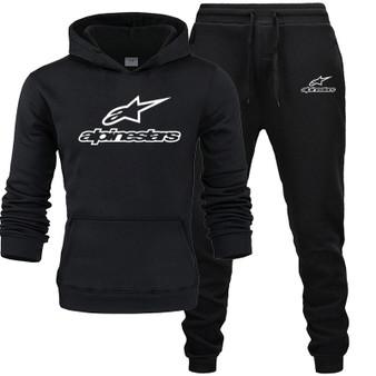 QueenLine  Alpinestar Tracksuit Men Sets Winter Hoodies Pants 2 Piece Set 2020 Fashion Hoody Mens Sweatshirt Sport Joggers Sweatpants Suit
