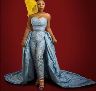 QueenLine Luxury Prom Jumpsuit With Detachable Train Sweetheart Satin African Evening Dress Pants Suit Plus Size Formal Robes De Soirée