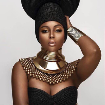 QueenLine  African Bib Torques Chokers Necklaces For Women Statement Metal Geometric Collar Necklace Indian Jewelry Boho Design