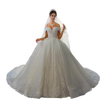 QueenLine Wedding Dress 2022 Robe De Mariee  Off The Shoulder Straps Wedding Gown 100% Real Work Photo