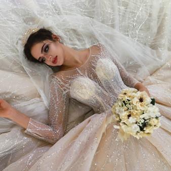 QueenLine robe de mariee princesse de luxe wedding dress princess puffy wedding gowns