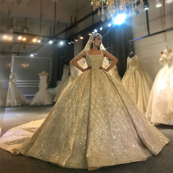QueenLine Design Real Work Photos Wedding Dress Stunning Full Beading Bridal Dress 2022