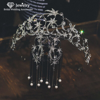 QueenLine CC Bridal Jewelry Sets Crown Tiara Stud Earrings 2pcs Wedding Hair Accessories for Women Cubic Zircon Luxury Party Fine Gifts|Jewelry Sets
