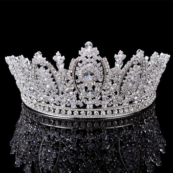 QueenLine Princess Crown Classic Design Elegant Wedding Bridal Hair Jewelry Tiaras And Crowns Women Zircon BC5069 Corona Princesa Hair Jewelry
