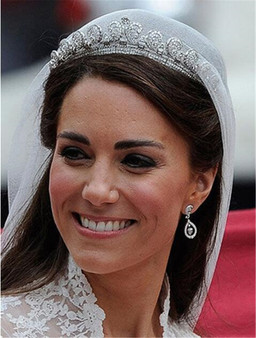 QueenLine Baroque Princess Diana William Kate Bridal Crown Tiaras Boutique Rhinestone Diadem Veil Tiara Headbands Wedding Hair Accessories Hair Jewelry