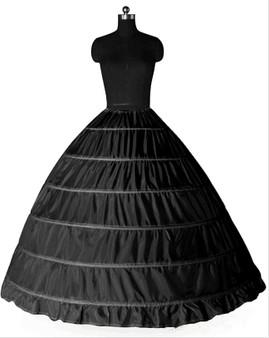 QueenLine White Black 6 Hoops Petticoat Crinoline Slip Underskirt Ball Gown Wedding Dresses Anagua De Vestido De Noiva Jupon Petticoats