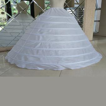 QueenLine Underskirt Ball Gown Wedding Dress Petticoat White Drawstring Strap 8  Hoops Performance Plus Size Long Petticoat Petticoats