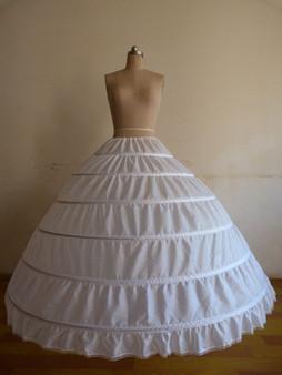 QueenLine  White/Black 6 Hoops Petticoat Crinoline Slip Underskirt For Wedding Dress Bridal Gown In Stock 2018|underskirt for wedding dress