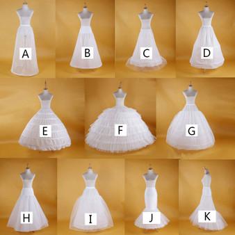 QueenLine Bridal Wedding Petticoat Hoop Underskirt Women White Petticoat Tulle Dress Wedding Puffy Skirt  Vestidos Para La Boda Formal|Petticoats|