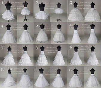 QueenLine NEW 12Style White A Line/Hoop/Hoopless wedding Crinoline Petticoat/Underskirt SN|Petticoats|