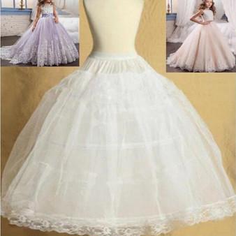 QueenLine Children Petticoat Dress Kids Petticoats for Flower Girls Dresses Little Girls Crinoline 2 Hoop Skirt Petticoat Lolita Skirt|Petticoat