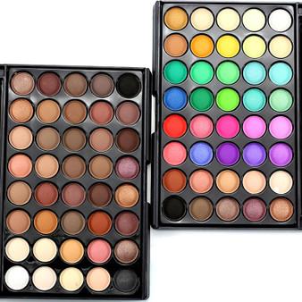 QueenLine Professional Brand Makeup Lots Glitter Matte Eyeshadow 40color Waterproof Bronzer Palette Eye Shadow Nude Cosmetics