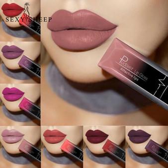 QueenLine Lipstick Waterproof Red Lip Long Lasting Makeup Metallic Gloss Make Up Nude Lip Stick Matte Lipstick 21 Color