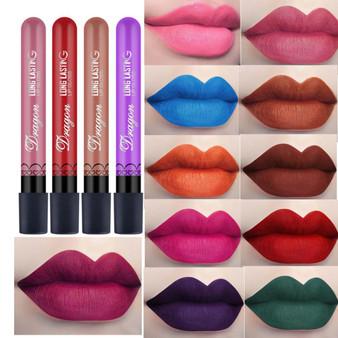 QueenLine Best Selling Waterproof Lipstick Sexy Vampire lip stick matte velvet lipsticks Red lips color 28 color ladies Makeup cosmetics