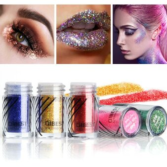 QueenLine 20 Colors Makeup Glitter Diamond Face Lips Loose Powder Makeup Pigment Metallic Shimmer Eye Cosmetics Make up