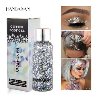 QueenLine 35g Fashion Mermaid Face Body Sequins Lotion Eyes Colorful Stage Makeup Hair Accessories Sequins Face Body Eye Use Sequins
