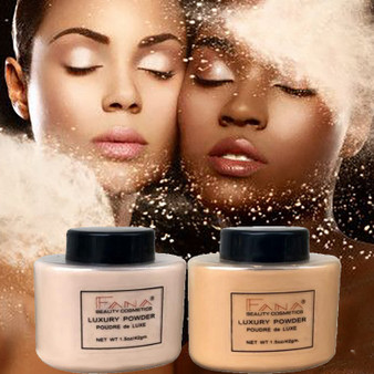 QueenLine Face Foundation Powder Oil Control Contour Full CoverBanana Powder Translucent Mineral Makeup Base Matte Foundation Make Up